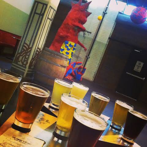 Funky art and fancy beers at Angel City Brewery.