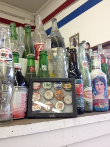 Vintage soda memorabilia is also part of Galco's ambiance. (Jim McLauchlin photo.)