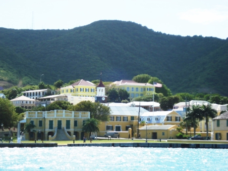 An ocean view of Christiansted.