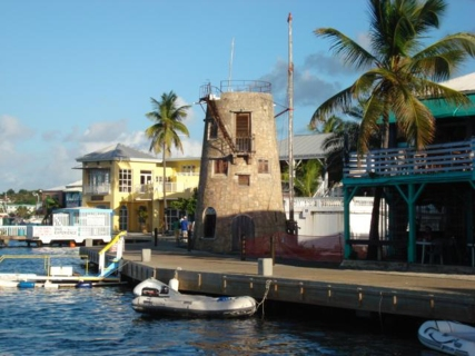 An old sugar mill on the Christiansted waterfront.