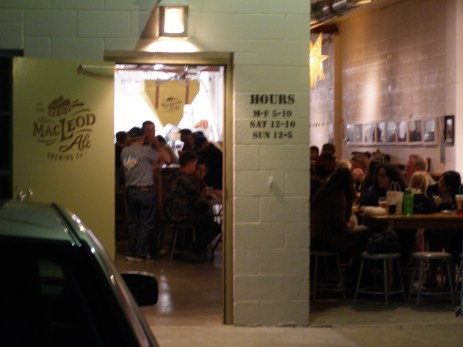 Yes, it's that small: The scene at MacLeod Ale.