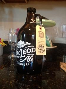 A MacLeod Brewing growler.