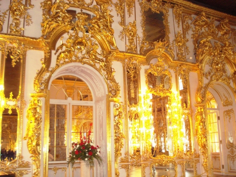 Gold dripping from the walls of one of St. Petersburg's glorious palaces.