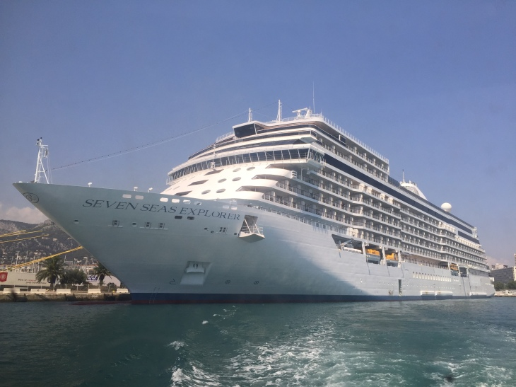 A cruise ship has a lot of rooms -- not a lot of room. (Daniela Harrison photo.)