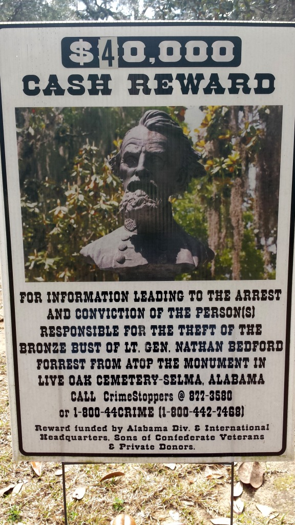 One of Selma's contradictions: A cemetery full of Confederate war heroes -- and statues missing from their graves.